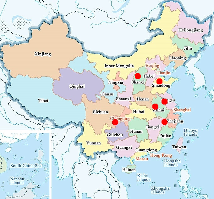 daily Glass industrial clusters in China