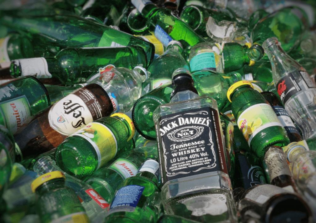 glass bottles junk