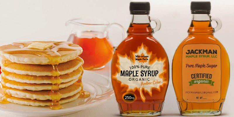 14 glass syrup bottles banner image