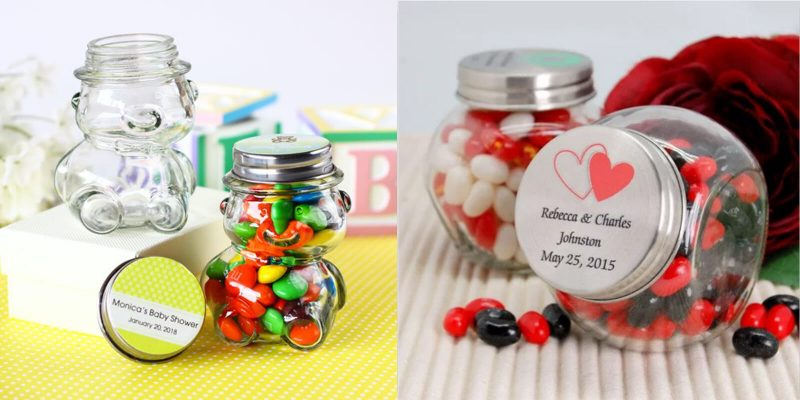 24 glass candy jars Banner image 2