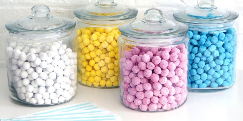 24 glass candy jars Banner image